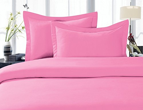 Elegant Comfort® 1500 Thread Count Wrinkle,Fade and Stain Resistant 4-Piece Bed Sheet set, Deep Pocket, HypoAllergenic - Full Light Pink (Pink Sheets compare prices)