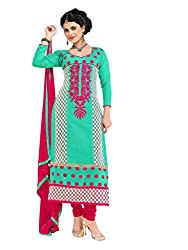 Sea Green Printed Salwar Kameez