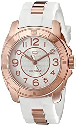 Tommy Hilfiger Classic Rose-Gold Steel and Silicone Strap Women's watch #1781305