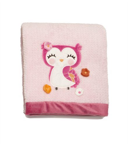 Carter's Embroidered Boa Blanket, Girly Owl (Discontinued by Manufacturer)