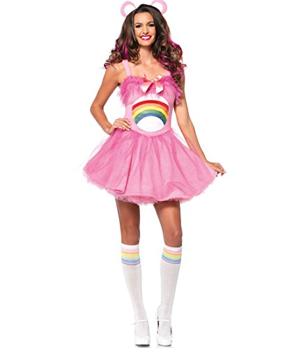 Leg Avenue CB85257 Cheer Bear Women Care Bears Halloween Costume - Light Pink - Medium/Large (Adult Care Bears Cheer Bear Costume)