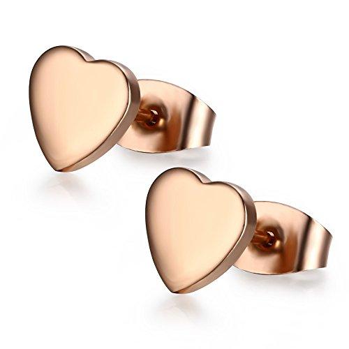 vnox-womens-girls-stainless-steel-14k-rose-gold-stud-earrings-heart-shape-fashion-jewelrybutterfly-c