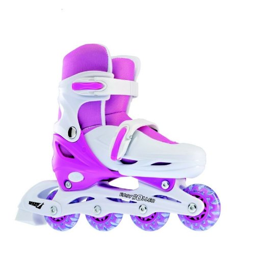 Pattini in- line easy roller 39-42 regolabili rosa sport one