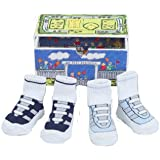 Dimples All Star Athletics Two Pairs Gym Shoe Socks, 0-12 Months