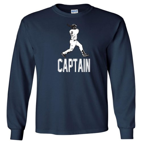 "Derek Jeter New York Yankees ""Captain"" LONG SLEEVE T-SHIRT Large at Amazon.com"