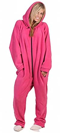 Forever Lazy Soft Fleece Lightweight Onesie Adult Lounge Wear - Pink XS/S