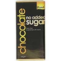 Plamil No Added Sugar Chocolate 100 g (Pack of 6)