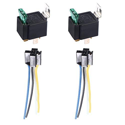 e-supporttm-2-x-12v-30a-4-polig-spst-kfz-relais-offner-schliesser-auto-lkw-wechselrelais-leistungsre