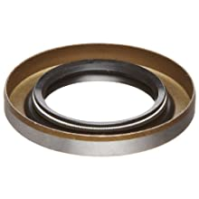 "Shaft Seal, Spring Loaded, Double Lip, Steel with Buna-N Lips, 1/4"" Height, 7/8"" OD, 3/8"" Shaft (Pack of 1)"