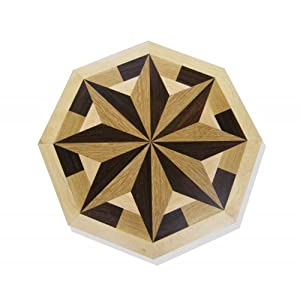 Octagon Wood Floor Medallion Inlay 24 Quot Mt012 Decorative