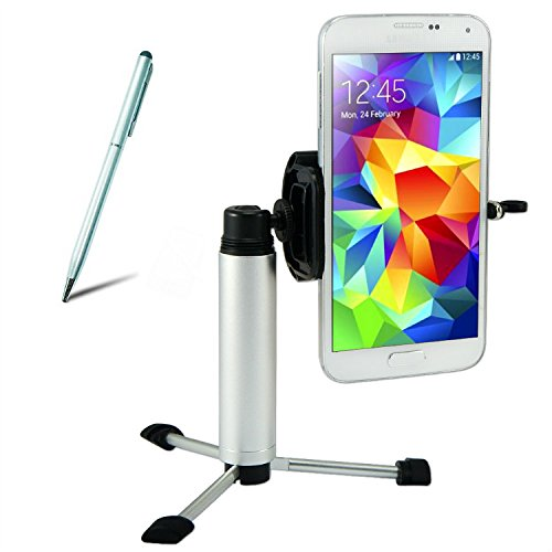 First2savvv ZP-100-A16G4 Silber Tragbare Self-Service-Fotografien Digital Kamera/Camcorder/Handy hand Monopod Stativ-Adapter mit Handyadapter für Iphone 4 4s 5 5s 5c 6 Iphone 6 plus 6s ipod touch 4 ipod touch 5th generation sony xperia Z Z1 Z2 M2 T3 Z3 M dual Xperia M2 Aqua Z3 compact E3 T2 Ultra Z3 LTE M2 LTE Z1 LTE Z4 music Z4 Compact Xperia E4 BlackBerry Bold 9900 9790 mit Silber Touch-Pen