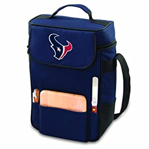 NFL Houston Texans Duet Insulated 2-Bottle Wine and Cheese Tote by Picnic Time