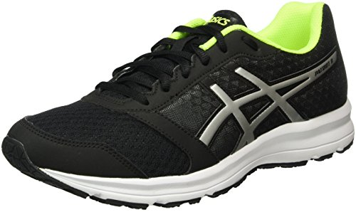 Asics Patriot 8, Scarpe da Corsa Uomo, Multicolore (Black/Silver/Safety Yellow), 44 EU