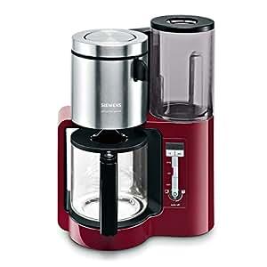 Siemens TC86304 Kaffeemaschine / 1160 Watt / 10-15 Tassen / cranberry red