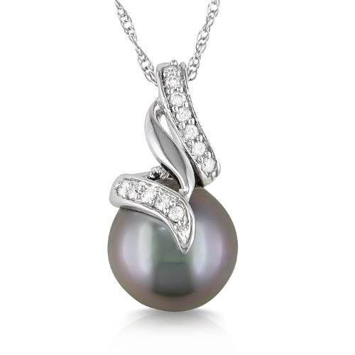 Tahitian Pearl and Diamond Star Pendant