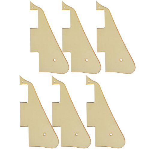 6Pcs High Quality Gold Mirror Electric Guitar Pickguard For Gibson Les Paul Guitar Replacement