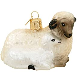 1 X Sheep with Lamb by Old World Christmas