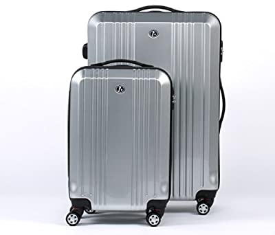 "FERGÉ two suitcase set CANNES - 2 suitcase hard-top cases - two pcs 20"" & 28"" luggage with 4 wheels (360) - ABS & PC"