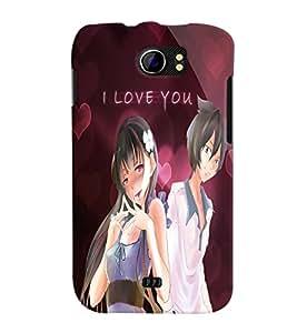 Fuson Love Couple Back Case Cover for MICROMAX CANVAS 2 PLUS A110 A110Q - D3847