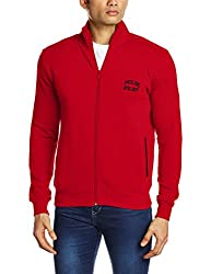 Proline Men's Cotton Sweatshirt (8907007203217_PC09911J_Small_Red)