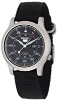 "Seiko Men's SNK809 ""Seiko 5"" Automatic Watch with Black Canvas Strap from Seiko"