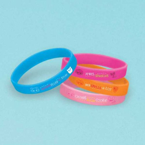 "Amscan Adorable Lalaloopsy Rubber Bracelets (4 Piece), Multi, 2 1/2 x 7/16"" - 1"