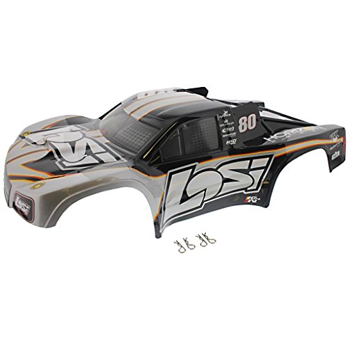 Losi 1/10 XXX-SCT Brushless 2WD * LOSI SCHEME SHORT COURSE BODY & CLIPS * #80 (Losi Truck Parts compare prices)