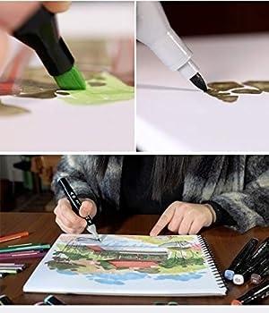 zsfrhgjnvzfgfjh 1PCS, Touchfive 30/36/40/48/60/80 Color Copic Markers Sketch Set for Manga Design Double Head Brush Pen for School Art Supplies (Color: Black, Tamaño: 60)
