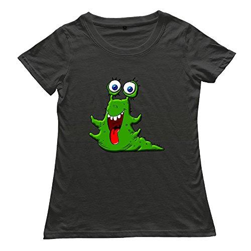 [DETED Fashion T-shirt Tee - Monster Lively For Women's SizeS Black] (Dark Souls Black Knight Costume)