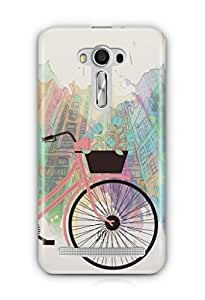 YuBingo Bicycle on High Street Mobile Case Back Cover for Asus Zenfone 2 Laser 550