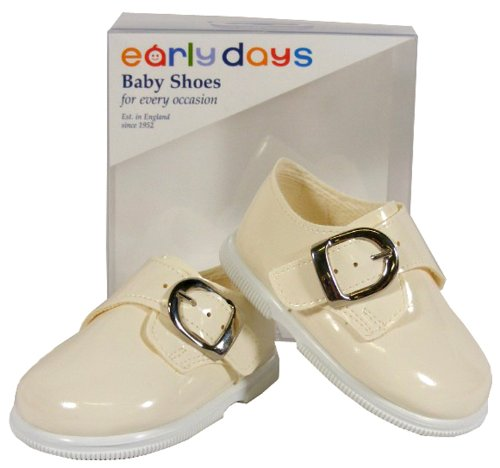 NEW Baby Toddler Boys Cream EARLY DAYS Christening Pram Shoes SIZE 0 1 2 3 4 5 6