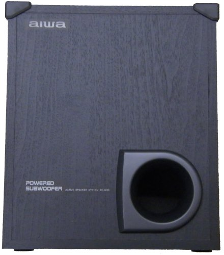 Aiwa Ts-W35 Powered Subwoofer Speaker System In Wood Cabinet