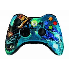 MS X-Box 360 Halo Covenant Stealth Multi 8 Mode Turbo Action Rapid Fire Mod Wireless Game Controller w/ LED Speed Selection Setting Indicator Light
