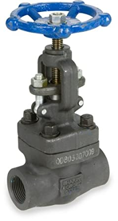 Sharpe Valves 44834 Series Carbon Steel Globe Valve, Bolted Bonnet, Inline, NPT Female