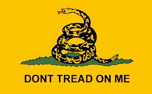 Gadsden Don'T Tread On Me Flag Sticker (Tea Party Decal)