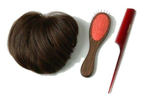 装いヘアピース ブラウン