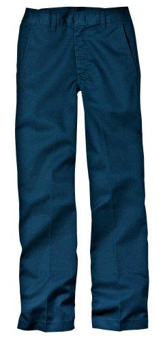 Dickies Big Boys' Flat Front Pant, Dark Navy, 8 Regular