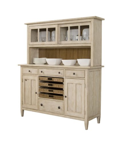 Picture of A.R.T. Furniture China Cabinet - CLOSEOUT - Straw Finish (64242-2613R) (64242-2613R) (China Cabinets)
