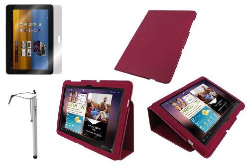 rooCASE 3n1 Ultra Slim (Magenta) Leather Case