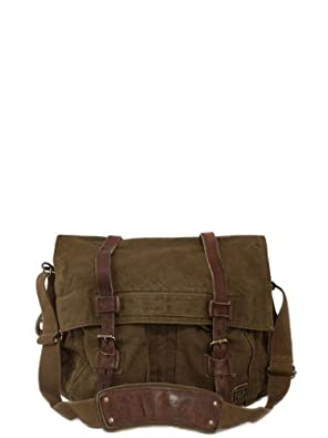 Belstaff Large Shoulder Mountain Brown Canvas Bag 10