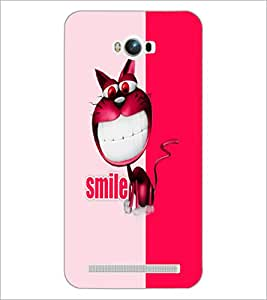 PrintDhaba Funny image D-5050 Back Case Cover for ASUS ZENFONE MAX ZC550KL (Multi-Coloured)