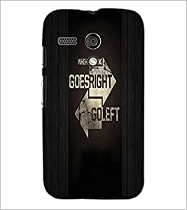 PrintDhaba Quote D-4945 Back Case Cover for MOTOROLA MOTO G (Multi-Coloured)