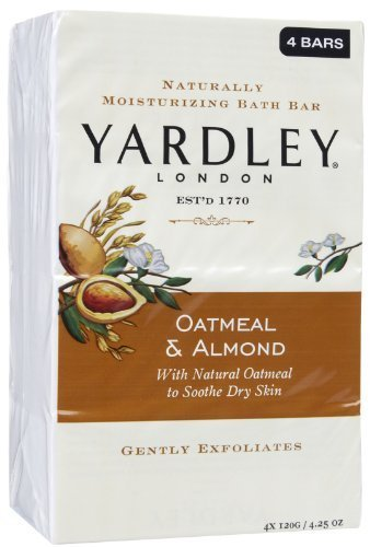 Yardley London Oatmeal & Almond Soap 4.25oz BIG BARS 4 pack Sealed in cellophane by Yardley
