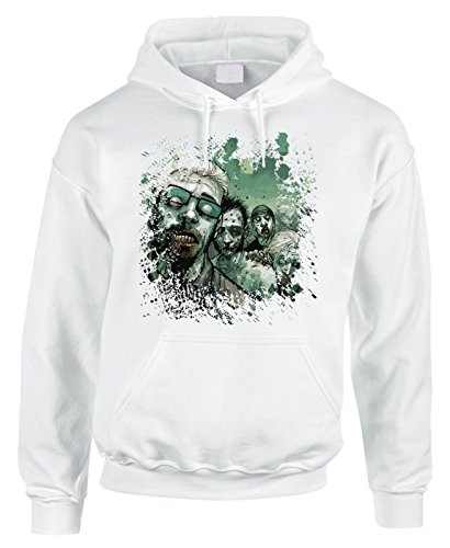 Felpa con cappuccio Walking Dead - Splatter Zombie - serie tv- in cotone by Fashwork