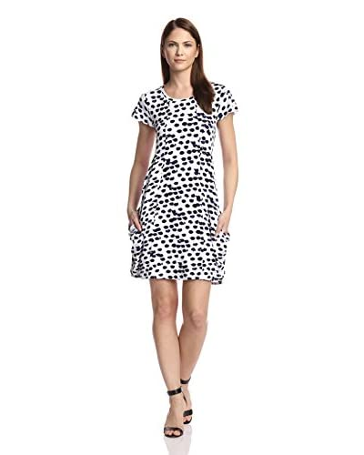 kensie Women's Short Sleeve Printed Dress