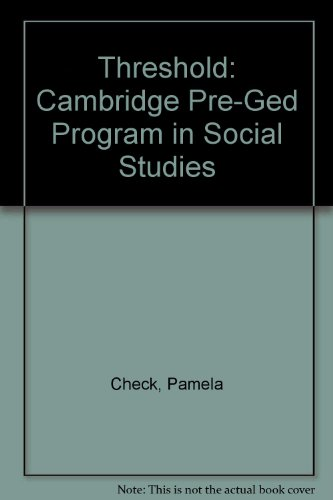 Threshold: Cambridge Pre-Ged Program in Social Studies