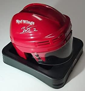 BRENDAN SMITH signed *DETROIT REDWINGSmini helmet COA - Autographed MLB Mini Helmets by Sports+Memorabilia