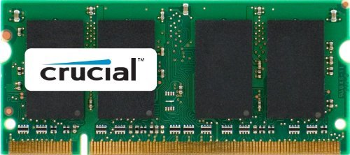 Crucial 2GB Single DDR2 667MHz (PC2-5300) CL5 SODIMM 200-Pin Notebook Memory Module CT25664AC667 PC, Computer, Hardware