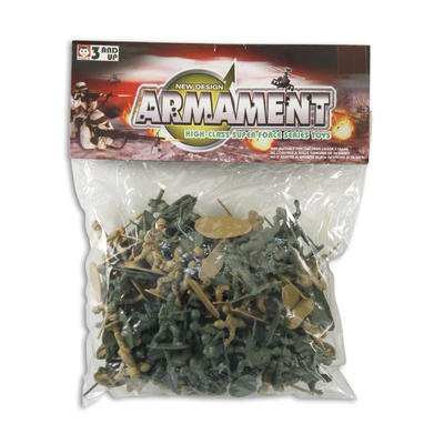 100 Ct. Mini Super Force Army Men plastic TOY Soldiers Boys Green & Tan