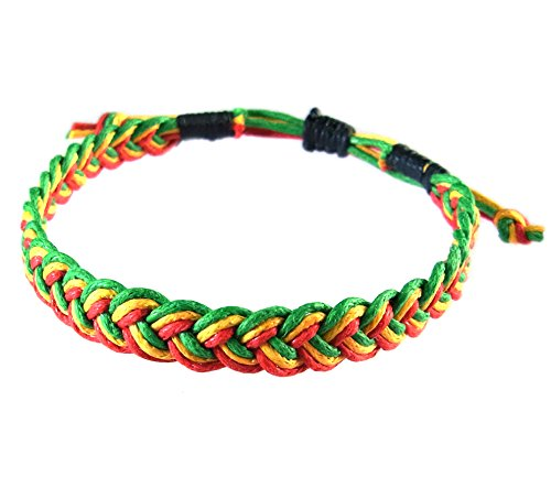 artisan-handgefertigt-armband-unisex-freundschaftsarmbander-rasta-rot-gelb-grun-baumwolle-schnur